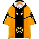 CLOAAE Sudaderas con Capucha 3D Naruto Harajuku con Estampado de Dibujos Animados Camisetas para niños y niñas Naruto Uzumaki