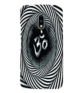 PrintVisa Religious & Spiritual OM 3D Hard Polycarbonate Designer Back Case Cover for Motorola Moto G4 PLAY