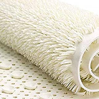 AQUALONA Bath Mat, Anti-Mould Non-Slip Bathtub Mat | Textured Bristle Surface, Suction Cups | Comfort,Beige | 65 x 35cm