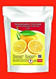 1000g Zitronensäure 1 Kg Lebensmittelqualität 1kg E330 Weichspüler Entkalker natürlicher Kalklöser kristallin Beutel weiß