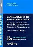 Image de Systemanalyse in der Kfz-Antriebstechnik, V:: Schwingungen im Getriebe und im Antriebsstra