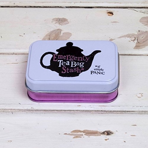 Emergency Tea Bag Stash Tin by The Bright Side (New Design) Bright Side Bag