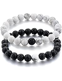 Couple & Combo Certified Natural Stones Stylish Distance Lovers Positivity Bracelet. Fashion Jewellery by Hot And Bold.