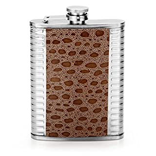 RUNACC Bouilloire d'eau de Poche de Flacon Dapos,Acier Inoxydable de Flacon de Hanche avec la Capacité de 226,8 Gram, Argent Argent