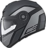 Schuberth C3 Pro Flip Front DVS - Casco de Motocicleta, Color Gris