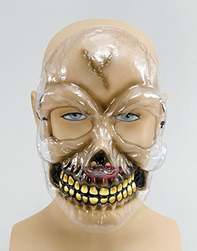 Skull Transparent Plastic Mask by Bristol Novelties