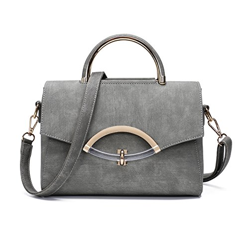 Mefly Fashion Bag Reine Farbe Platz Light Grey