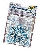 Folia 12530 - Bastelset, für 5 Perlensterne, blau/silber/perlweiß