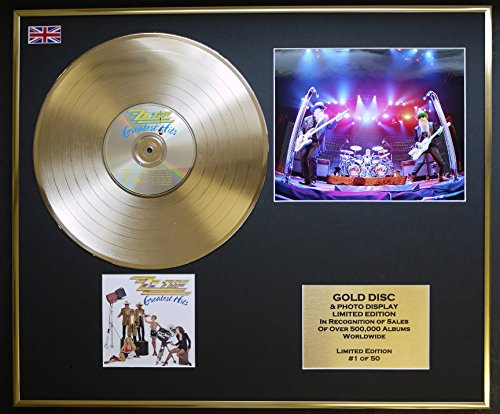 ZZ TOP/CD GOLD DISC & PHOTO DISPLAY/LTD. EDITION/COA/GREATEST HITS