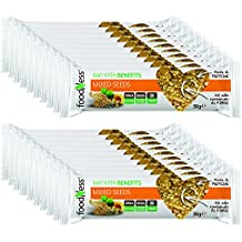 20 Barritas de Cereales Mixtos Foodness. Snacks Deliciosos y Nutritivos