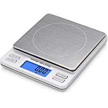 Smart Weigh TOP500 - Báscula de bolsillo digital Pro con pantalla LCD, función de retención, capacidad de 500 x 0.01g