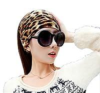 Bllomsem Yoga Sport Bandeau Cheveux Écharpe Bandeau Classique Leopard