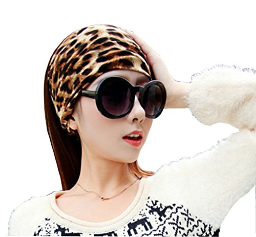 Bllomsem Yoga Sport Haar Band Schal Stirnband Klassische Leopard (Klassisches Stirnband)