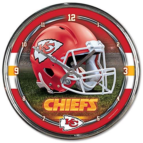 "Wincraft NFL Kansas City Chiefs Chrome Clock, 12\"" x 12\"""