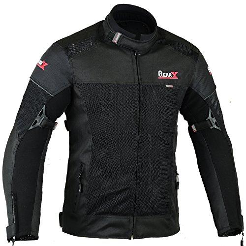Giacca protettiva per motocicletta condotto dell'aria & idrorepellente, L
