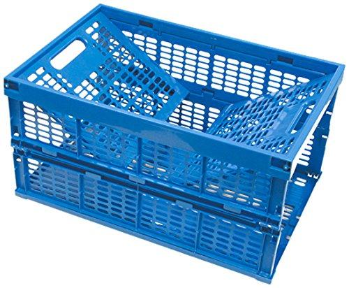 VISO 3321360004031 faltbarer Abfalleimer aus Polypropylen 60 L, blau