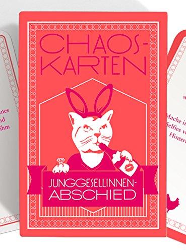 Chaoskarten JGA Spiel für die Braut