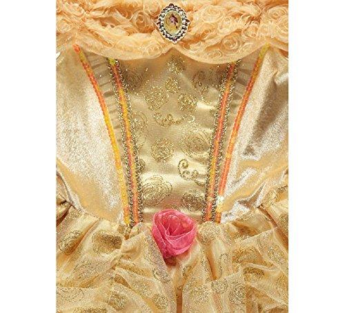Vestido de la princesa Bella de la marca George, de La Bella y la Bestia de Disney, disfraz para niñas de 5-6 años