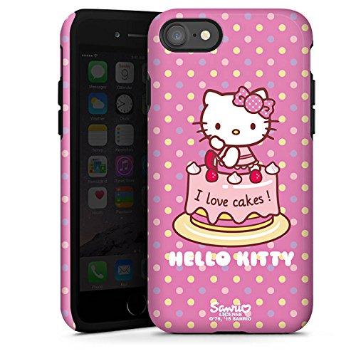 Apple iPhone X Silikon Hülle Case Schutzhülle Hello Kitty Merchandise Fanartikel I Love Cakes Tough Case glänzend