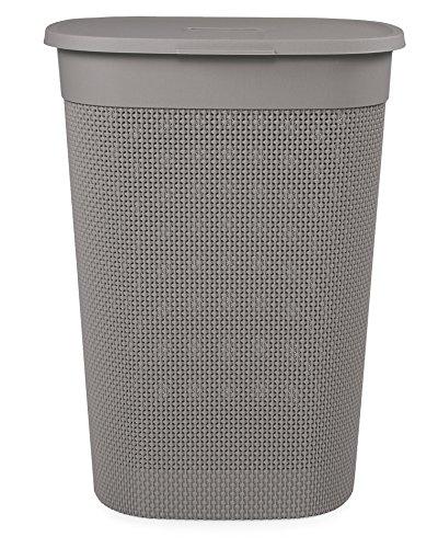 Ondis24 Wäschebox Wäschekorb Filo 60 Liter (Taupe) italienisches Design, gut belüftet, edle Optik aus Kunststoff