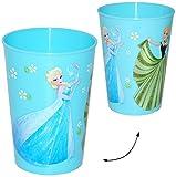 Unbekannt 3 Stück _ Trinkbecher / Becher -  Frozen - Disney die Eiskönigin  - BLAU - 280 ml - auch als Zahnputzbecher / Malbecher - Küche Essen Kind - völlig unverfro..
