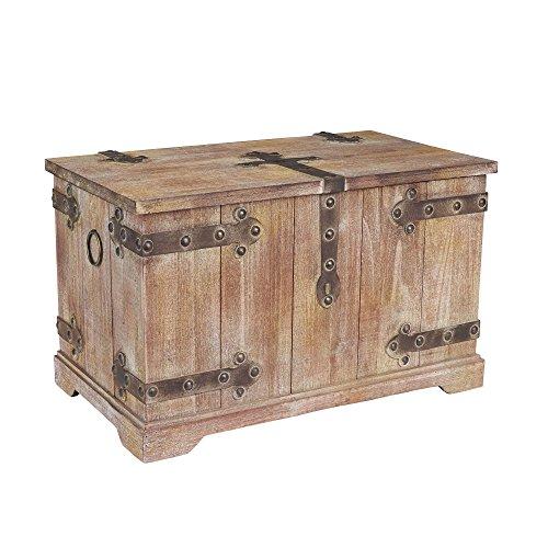 Antike Truhen Und Trunks (Haushalt Essentials Dekorative Viktorianischer Trunk inspiriert, holz, rustic brown, L)
