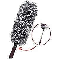 Plumero con mango extensible, de microfibra, flexible, ideal para el coche y en casa, multiusos, material antiestático, absorbe fácilmente el polvo