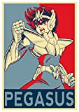 "Poster Saint Seiya ""Propaganda"" Pegasus Seiya - Formato A3 (42x30 cm)"