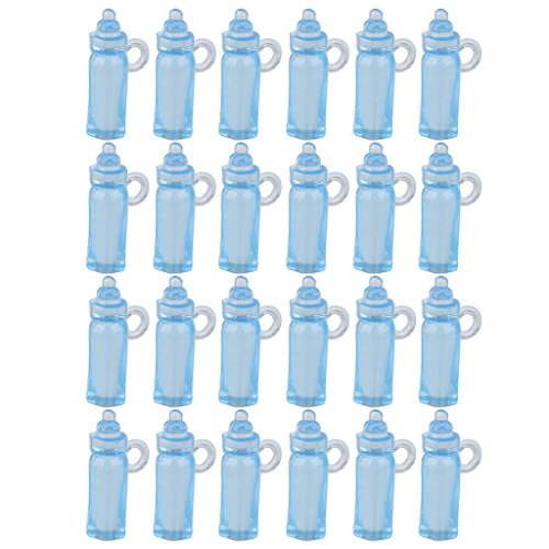 Mini-biberon Baptême Baby Shower Favorise 24pcs Décor De Partie Bleus