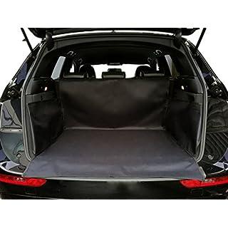 autooptimierer.de Kofferraumschutz Hunde mit Seitenschutz Auto Klett Hundedecke Wasserdicht Schwarz Kofferraumdecke Autoschondecke Kofferraummatte