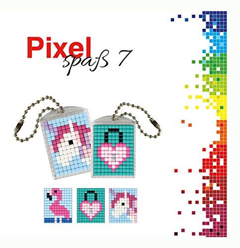 by P90037-00505 - Pixel Spaß Bastelset 7, für 2 Medaillons, Schlüsselanhänger, für Kinder, Jungen und Mädchen, als kleines Geschenk, Mitgebsel, für den Kindergeburtstag ()