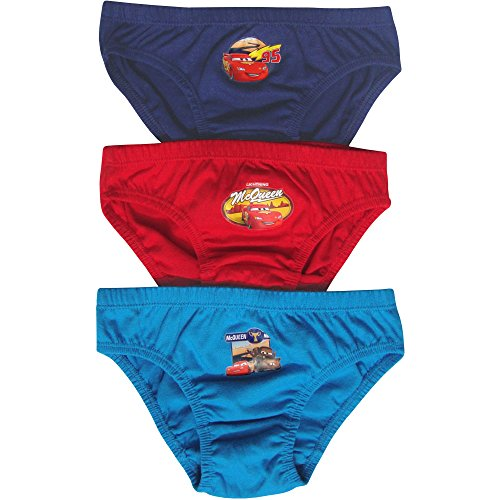 Image of Toddlers & Boys Disney Cars Hipster Briefs Pants Set (3 Pair Pack) (3-4 Years)