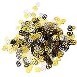P Prettyia Folien Konfetti, Zahlen Form - Gold 30 50 60-60