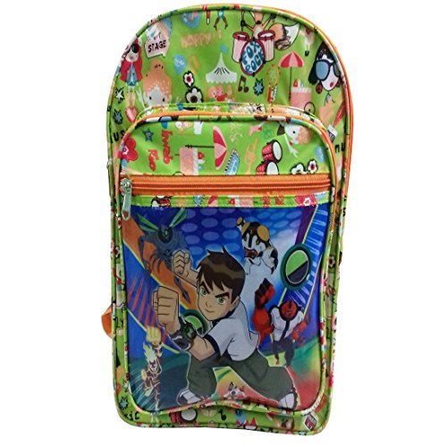 RoseBud Ben10 Ben 10 Cartoon Print Green Color (10-15 Lt/16.5 inch/3-6 years) 3 Compartment Shoulder Strap padding Polyester Backpack Bag for Nursery and Junior School Girls, Boys and Kids Students(Doraemon, Chota Bheem, Ben10 Ben 10, Barbie, Motu Patlu, Cinderella Princess, Sponge Bob, Honey Bunny, Subway Surfers, Micky Mouse, Bugs Bunny, Tweety, Goofy, Tom, Jerry, Donald Duck, Snow White etc)  available at amazon for Rs.420