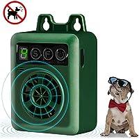 LEIPING Dispositivo Antiladridos, Disuasorio de Corteza para Perro Ultrasónico, Dispositivo de Control de ladrido al Aire Libre Collar, Recargable y Inofensivo Humanos para Perros