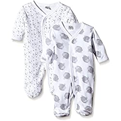 Care 4136_U Pijama, Elfenbein (Offwhite 200), 0-3 Meses/56 cm, Pack de 2