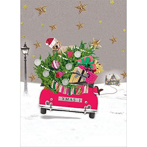 Tree-Free Greetings HB93305 Grußkarten, Vintage-Design, recyceltes Papier, in Schachtel verpackt, 10 Stück Lab Golden Retriever, Weihnachten -