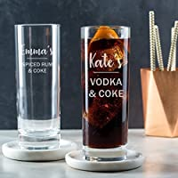 Personalised Highball Glass - Alcohol Gifts For Women/21st Birthday Gifts For Her/Gin Rum Vodka Gifts For Women