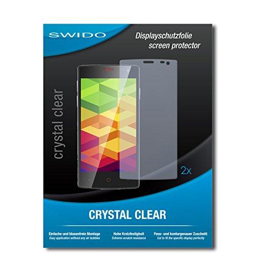 SWIDO Schutzfolie für Ulefone Be X [2 Stück] Kristall-Klar, Hoher Härtegrad, Schutz vor Öl, Staub & Kratzer/Glasfolie, Bildschirmschutz, Bildschirmschutzfolie, Panzerglas-Folie