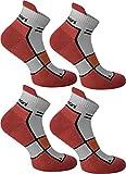 4 Paar Running Sport Sneaker Funktionssocken mit Frotteesohle verstärkt Farbe