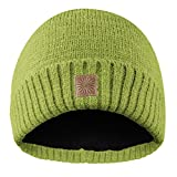 Flash Beanie Mütze aus reflektierender Wolle mit innenfleece für Damen und Herren. One Size (Grün)