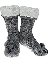 CityComfort Pantuflas Mujer Invierno Antideslizantes Mujer Pantuflas de Estar por Casa Pantufla Invierno Calcetines Extra Suave Botitas Patucos Mujeres Animales Ratón Oveja Koala