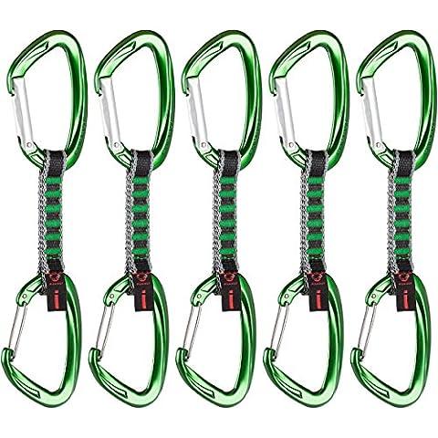 Mammut, Set di rinvii da arrampicata Unisex adulto, 5 pz., Verde (Straight Gate/Wire Gate Green), 10