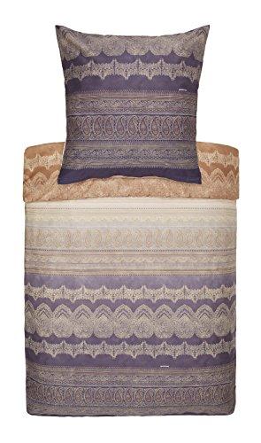 Bassetti Parure de lit en satin de coton mako Brunelleschi V7, Coton, 200 x 200 cm + 2 x 80 x 80 cm