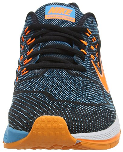 Nike Air Zoom Structure 18, Herren Laufschuhe Mehrfarbig (blue Lagoon/orange/black/bright Crimson)