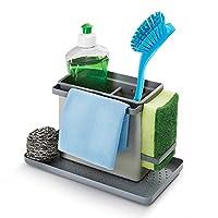 Metaltex Tidy-Tex Kitchen Sink Cleaning/Washing Up Organiser, Grey, 24 x 13 x 14 cm