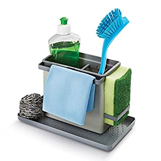 Organizer Adjustable Sink–Store and accessories Cleaning products for Washing, Detergent, Sponge, Cloths and Others–Includes 2Brackets–Ideal to organise–suitable Dishwasher