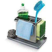 Metaltex Tidy-Tex - Organizador Modular de Limpieza de Cocina, Gris