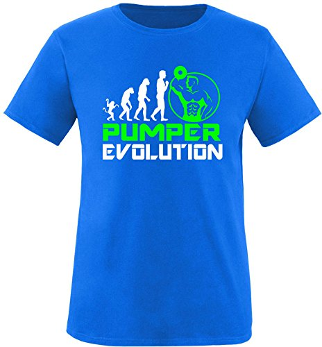 EZYshirt® Pumper Evolution Herren Rundhals T-Shirt Royal/Weiss/Neongr