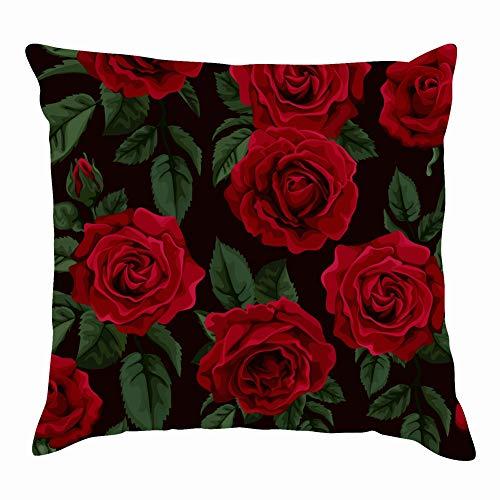 e Rose Vintage Throw Pillow Covers Cotton Linen Cushion Cover Cases Pillowcases Sofa Home Decor 18